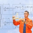 Stock Photo: Engineer-designing