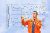 Engineer-designing — Stock Photo