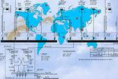 Neue Welt-Technologie — Stockfoto