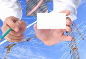 New energy technology-it is our visiting card in construction — ストック写真