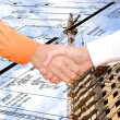 Cooperation in  new energy technology in construction - Stock Photo