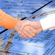 Cooperation in new energy technology in construction — Stock Photo