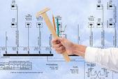 New energy technology new energy technology in construction — Stock Photo