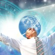Stock Photo: New mentality in free outer space