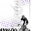 Royalty-Free Stock Vector Image: Cycling vertical background