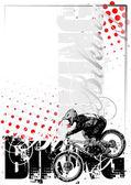 Bike vertical background — Stock Vector