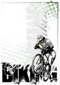 Moutain bike vertical background — 图库矢量图片