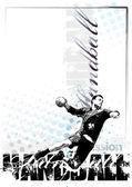 Handball background — Stock Vector