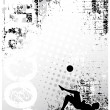 Royalty-Free Stock Vector Image: Soccer grungy poster background 2