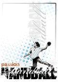 Handball background 3 — Stock Vector