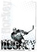 Ice hockey background 2 — Stock Vector