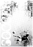 Soccer grungy poster background 1 — Stock Vector