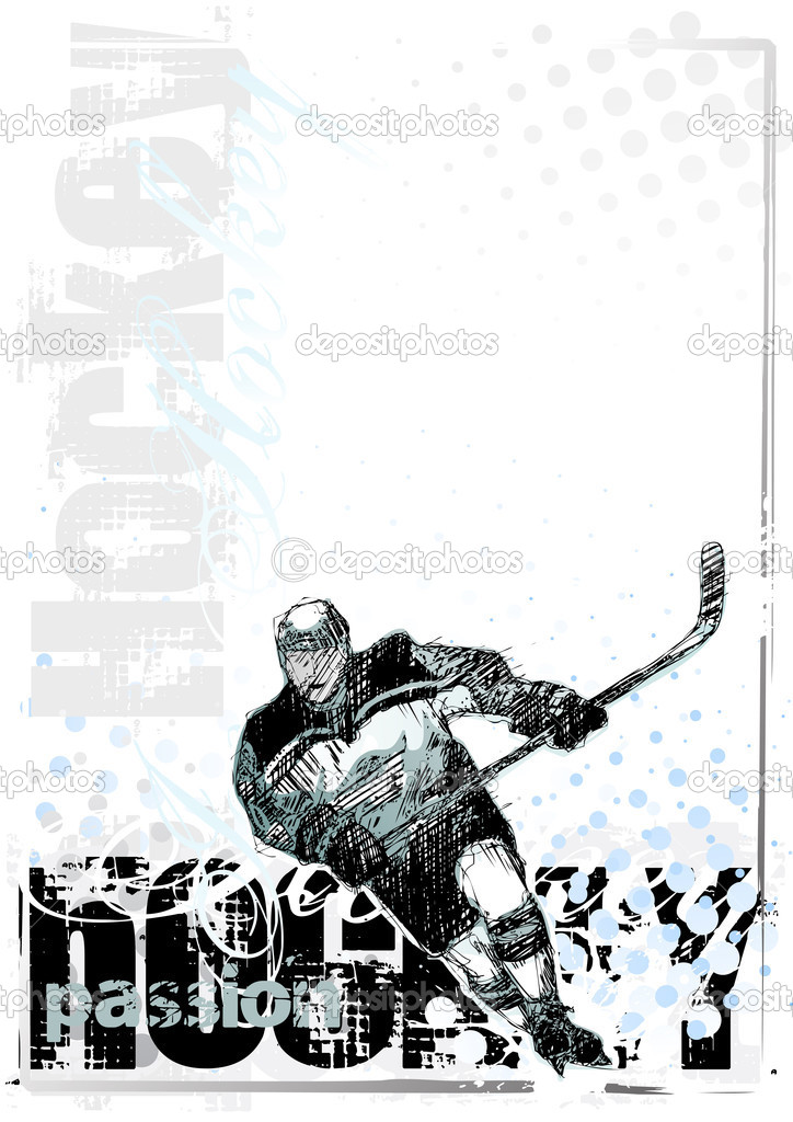 Sketching of the ice hockey — Stock Vector #2850442