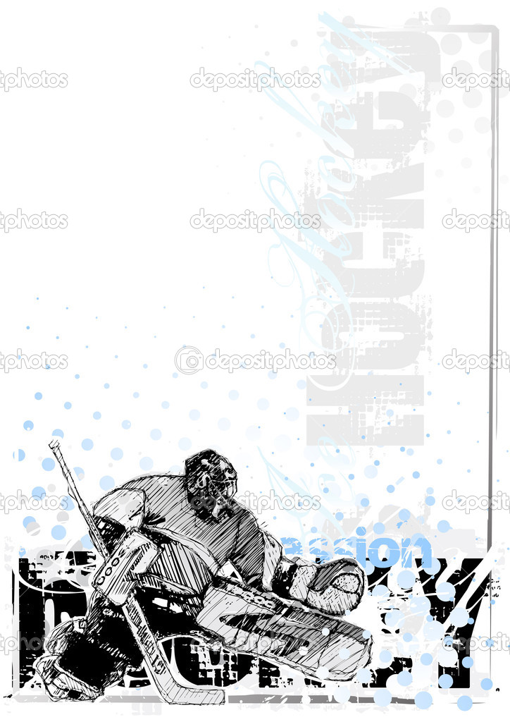 Sketching of the ice hockey  Stock Vector #2850470
