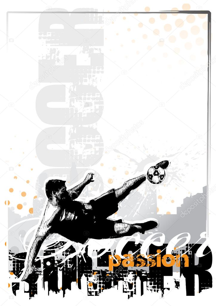 Soccer background in the vectors  Imagen vectorial #2851121