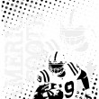 Royalty-Free Stock Imagen vectorial: American football background 7