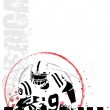 American football background 4 — Stock Vector