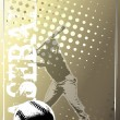 Royalty-Free Stock Vector Image: Baseball golden background