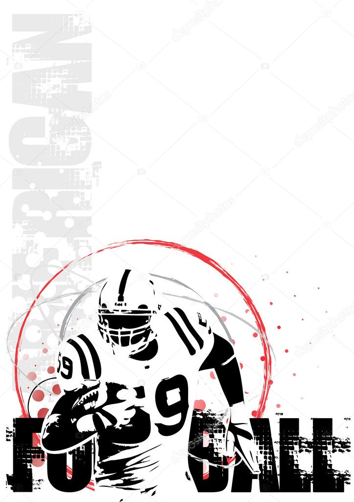 American football player in the vectors — Stok Vektör #2862737
