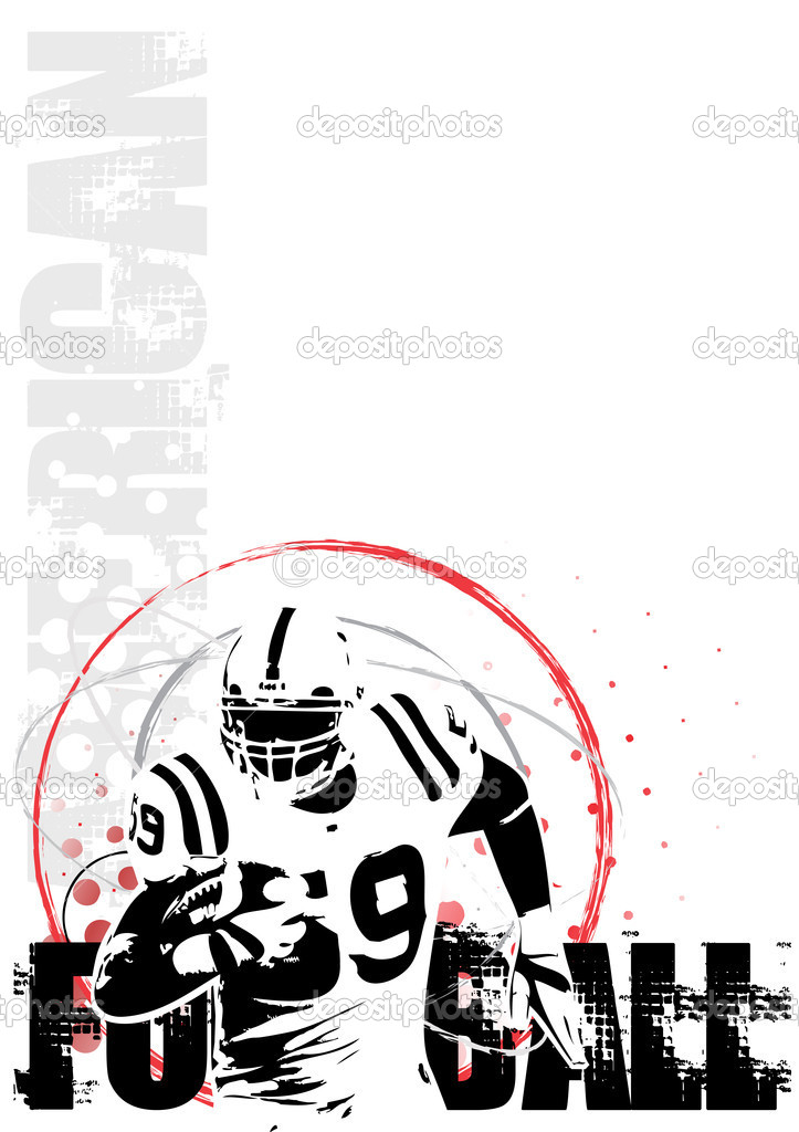 American football player in the vectors — Vektorgrafik #2862737