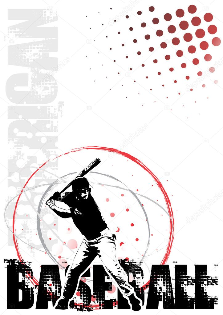Baseball player in the vectors — Stock Vector #2864403