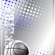 Stock Vector: Basketball blue background