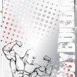 Royalty-Free Stock Vector Image: Bodybuildyng poster