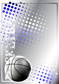 Basketball blue background — Stock Vector