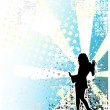 Disco poster background - Stock Vector