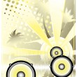Royalty-Free Stock Vector Image: Dj yellow poster background