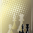 Chess golden poster — Stock Vector