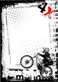 Dirty bike background 3 — Stock Vector