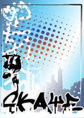 Skateboard poster backgroud — Stock Vector