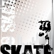 Stok Vektör: Skate silver background 2