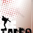 Stock Vector: Taebo silver poster background 2