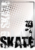 Skate silver background 2 — Stock Vector