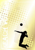 Volleyball golden poster background 2 — Stock Vector