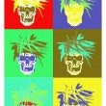Pop art skull — Stock Vector #2926114