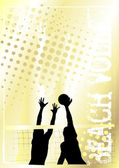 Volleyball golden poster background 4 — Stock Vector