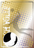 Volleyball golden poster background 5 — Vettoriale Stock