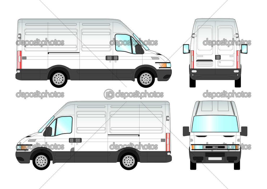 Veco van presentation in the vectors  — Stock Vector #2926065