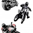 Royalty-Free Stock Vector Image: Motorcycles trio
