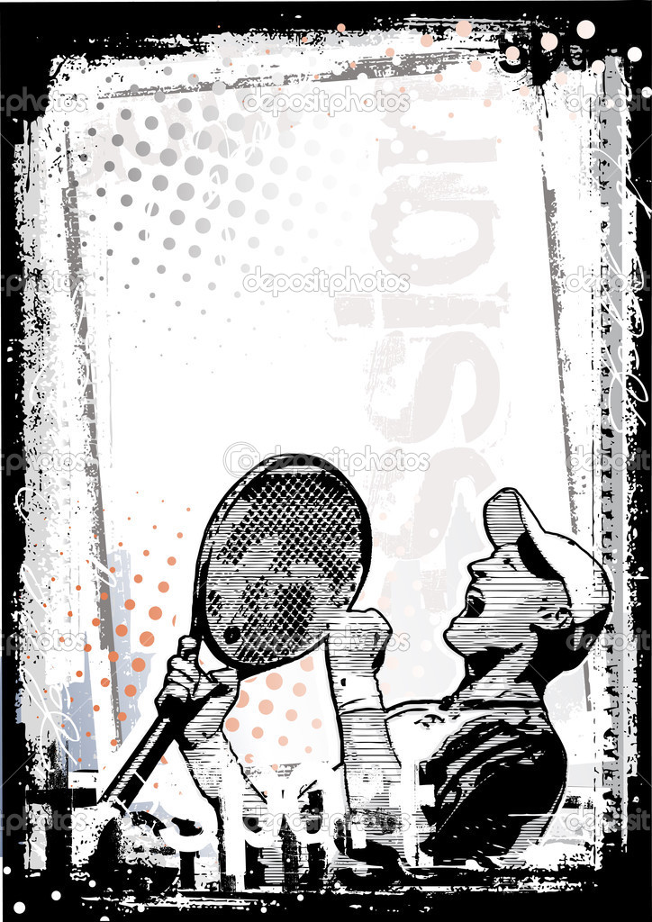 Tennis poster backgorund  Stock Vector #3434305