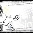 Royalty-Free Stock Imagen vectorial: Funny soccer background 2