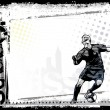 Stockvector : Soccer background 2