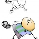 gracioso futbol 2 — Vector de stock