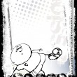 Vector de stock : Funny soccer poster background 2