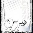 Fondo de fútbol divertido cartel 2 — Vector de stock