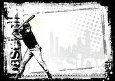 Baseball background 1 — Stock Vector