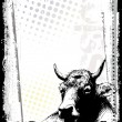 Cow poster background 2 — Vector de stock
